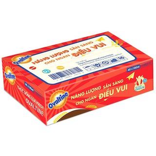 Thùng Sữa lúa mạch Ovaltine Vị Sô cô la (180ml x48 hộp)