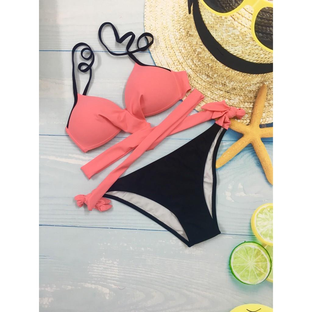 Bộ bơi nữ 2 mảnh thiết lế dây buộc gợi cảm