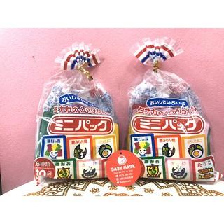 Gia vị rắc cơm nội địa Nhật cho bé ăn dặm 6 vị gồm 30 gói nhỏ