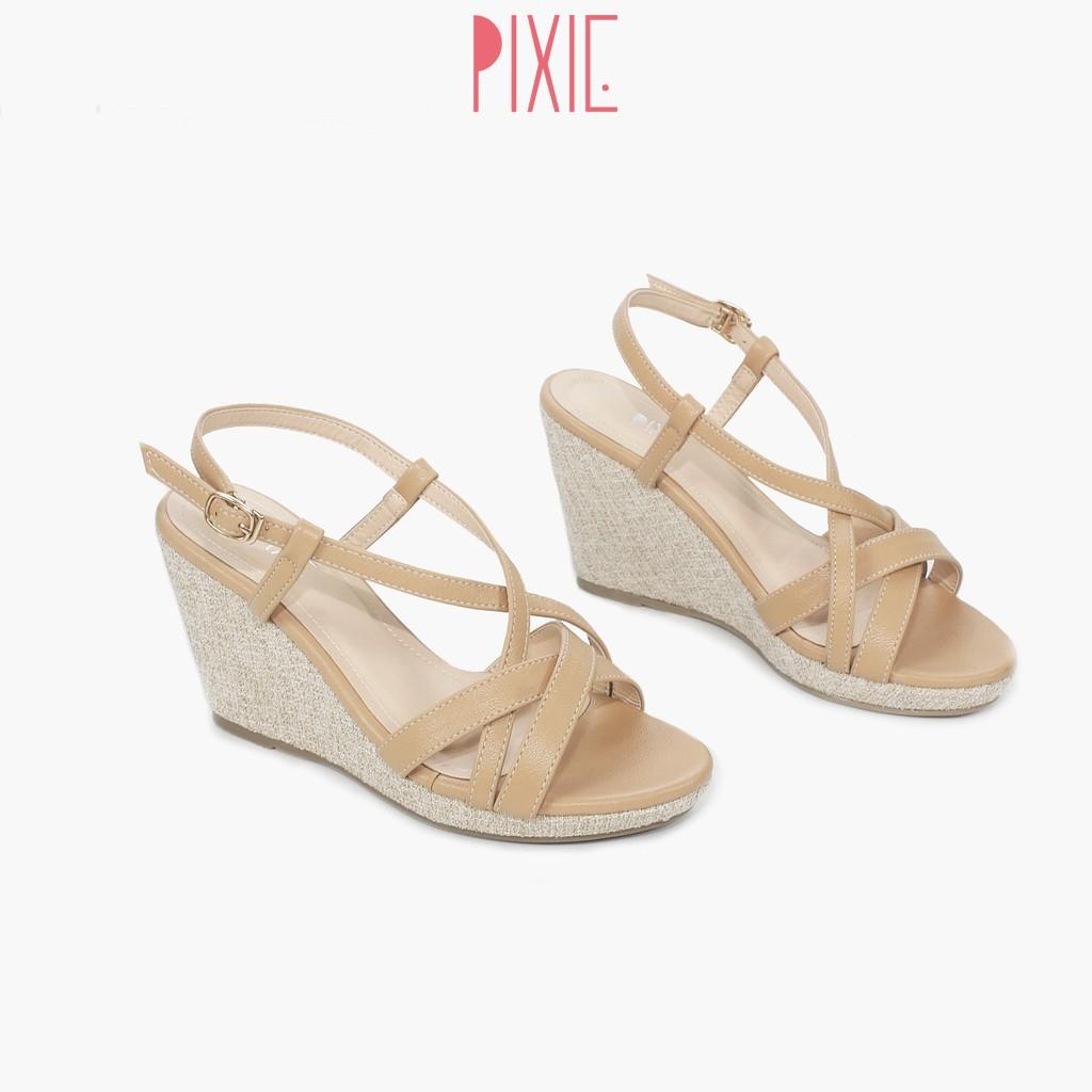 Giày Sandal Đế Xuồng 7cm Quai Đan Pixie X487