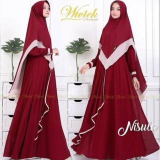 Đầm Maxi Phong Cách Hồi Giáo Td417 Agnes Màu Trắng