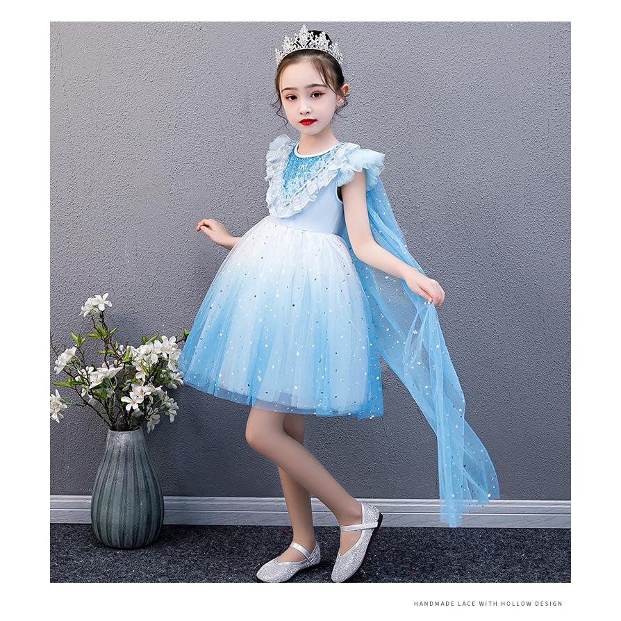 Đầm công chúa đính kim sa lấp lánh xinh xắn thời trang cho bé gái