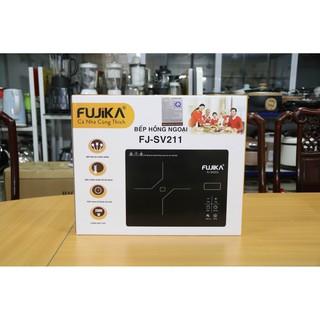 Bếp hồng ngoại 2000w Fujika FJ-SV211 mặt kính cường lực không kén nồi, có thể nướng trực tiếp trên bếp