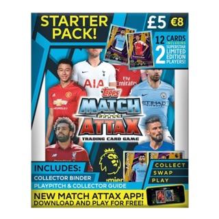 Starter Pack – Sản phẩm dành cho người muốn bắt đầu sưu tập – bao gồm ALBUM Match Attax và thẻ LIMITED EDITION 2018/2019
