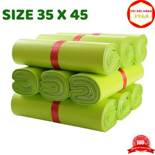 Túi gói hàng niêm phong cao cấp size 35 X 45 màu xanh lá Green