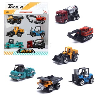 1:64 Colorful Alloy Metal Model Toy Car Construction Vehicle 5pcs/Set Kids Gift Simulation Vehicles Toy
