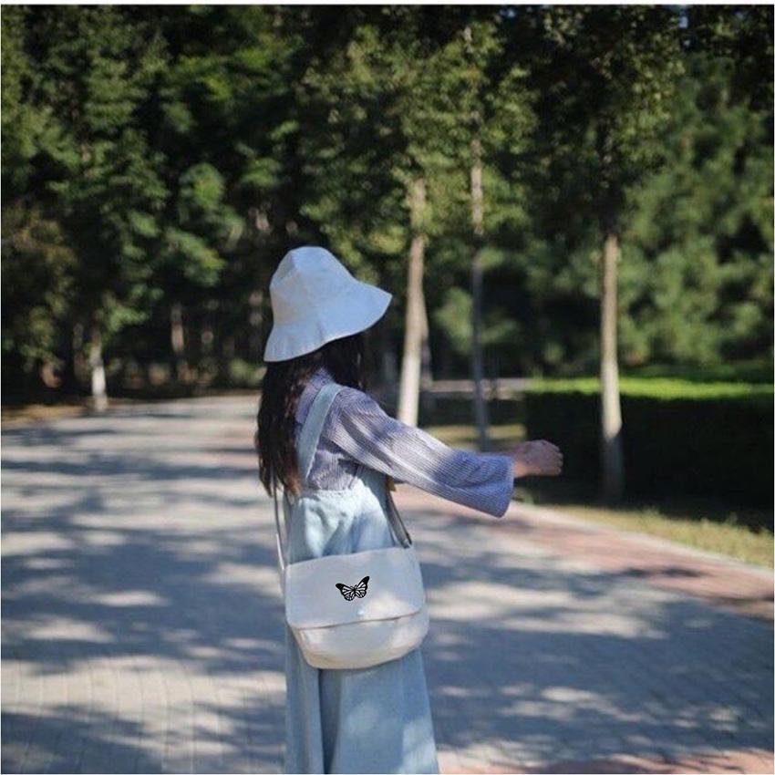 [Hàng Loại 1] 10 mẫu Túi Chéo 🦋 Túi đeo chéo chất vải Canvas dáng Unisex 2 màu 🦋