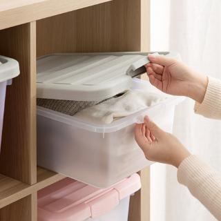 Home has transparent lid bin plastic large locker household