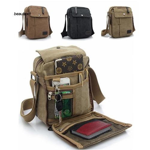 ✨BEAUTY✨ Man's Simple Causal Canvas Rucksack Multifunctional Outdoors Shoulder Sling Bag