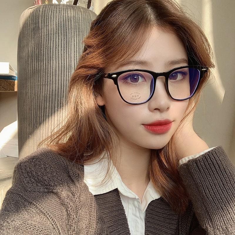 Kính nữ không độ phong cách Hàn Quốc chống tia UV đẹp thời trang cao cấp Hottrend ABICA 012