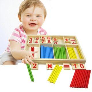 Đồ chơi bảng tính toán học gỗ _ Bảng tính que cho bé