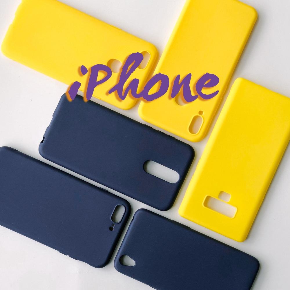 Ốp lưng mềm màu trơn cho iPhone 5 5s SE 6 6s 7 8 Plus X XS