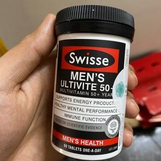Vitamin Tổng Hợp Cho Nam Swisse Men's Ultivite 50+ ( trên 50 tuổi ), 60 viên