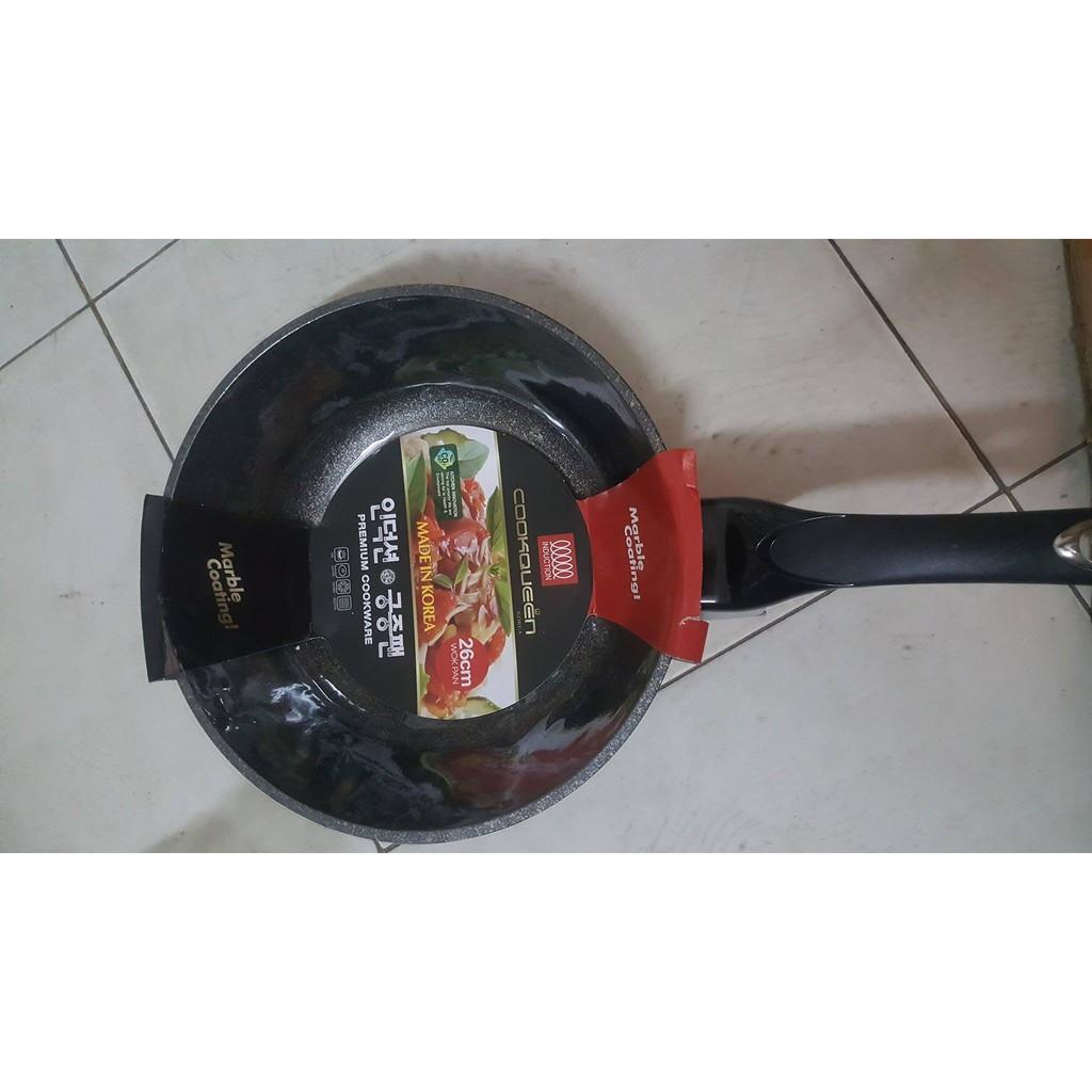 Chảo chống dính vân đá 30cm Cookqueen Hàn Quốc MS000369