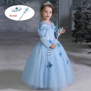 FROZEN đầm công chúa Hóa Trang Công Chúa Elsa Dễ Thương Cho Bé Gái