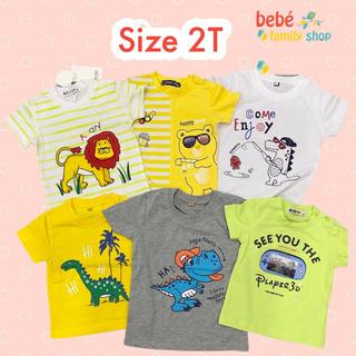 [Size 24M, 2T] Áo thun tay ngắn/ cộc tay cotton đẹp cho bé trai – hàng xuất dư nhiều hãng