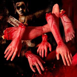 Bàn tay máu Halloween