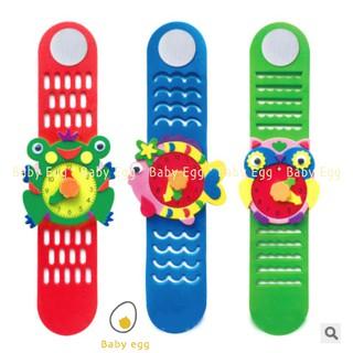 Bộ miếng dán xốp cắt sẵn mô hình đồng hồ đeo tay, đồ chơi trẻ em cho bé trai bé gái 3 4 5 6 7 8 9 tuổi đồng hồ baby egg