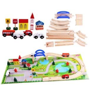 Đồ chơi gỗ: Mô hình thành phố giao thông
