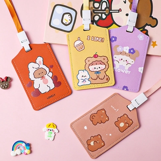 Cute Card Holder Waterproof Bus Card Cover Student Hanging Neck ID Card Cover thumbnail