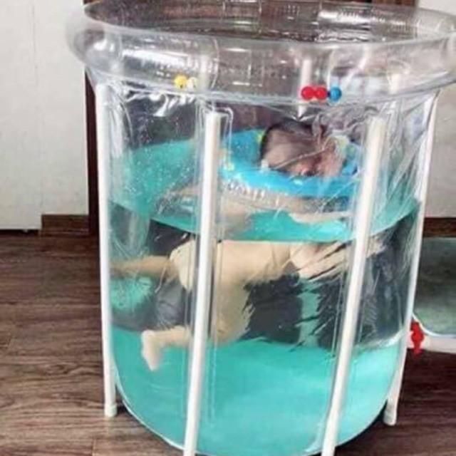 Bể bơi thành cao cho bé