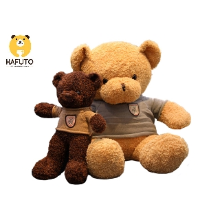 Gấu Teddy head and tales lông chỉ áo len HAFUTO size 50cm