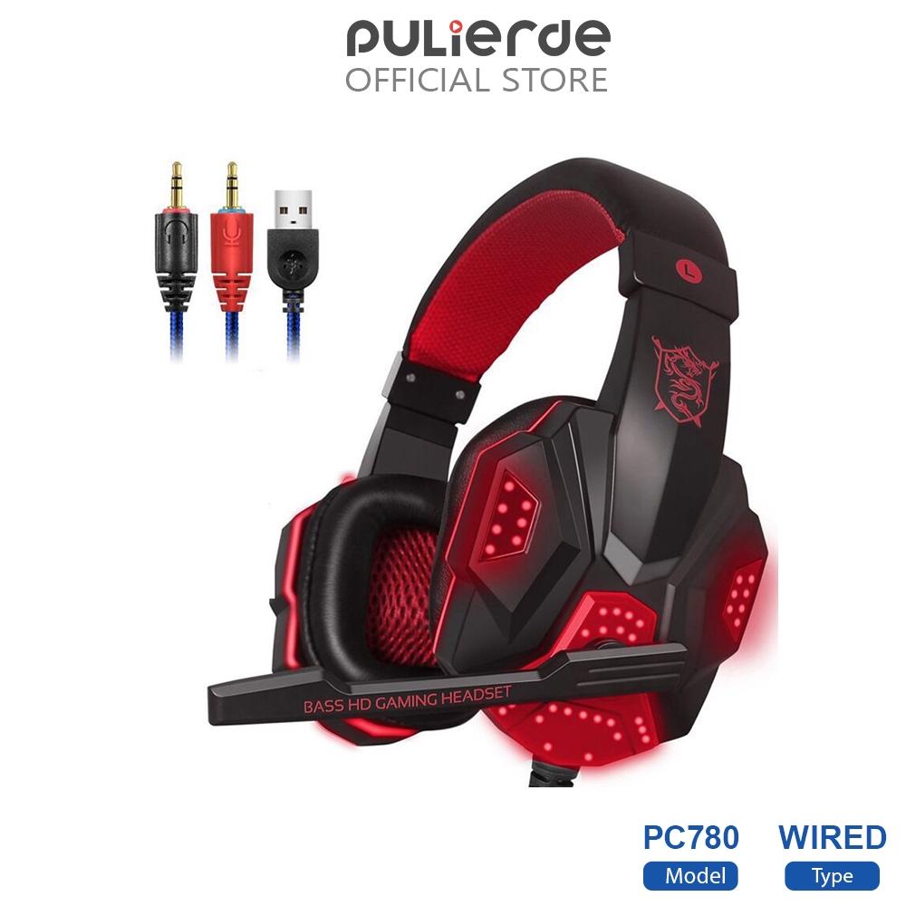 Tai nghe chuyên game thủ Pulierde PC780 đèn LED Có Mic