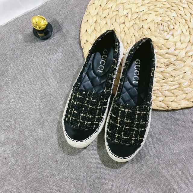 [Ảnh chụp thật] Bán sỉ giày slip on nữ dạ kim tuyến trơn đế hột chống trơn trượt quá hót