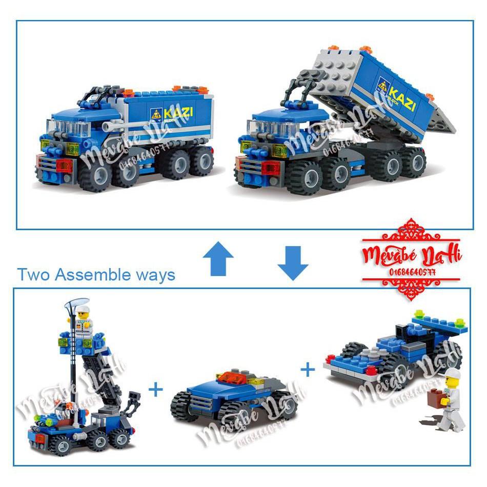 Lego Kazi 6409 ráp chuyển đổi nhiều kiểu xe - 163 chi tiết
