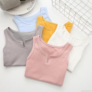 Baby Girls Tops Summer Floral Tanks Tops Girl Underwear Kids Clothes Cotton Camisole Baby Undershirt Teenager Singlets Children Underwe