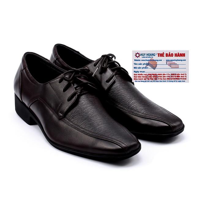 Giày da nam Huy Hoàng màu nâu đỏ-A