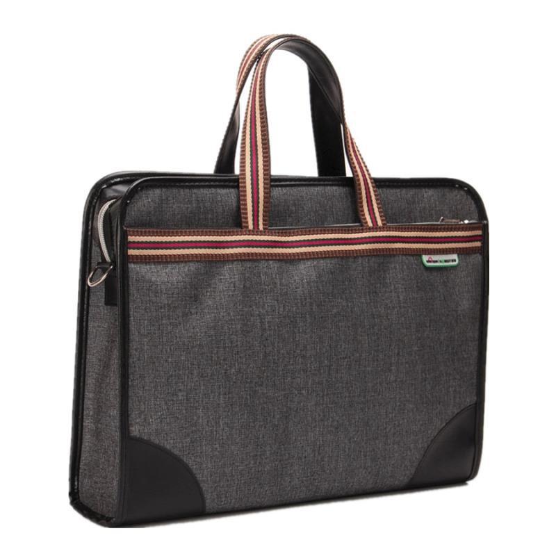 ธุรกิจของผู้ชายกระเป๋าแฟชั่นกระเป๋าเอกสารความจุขนาดใหญ่ถุงไฟล์ข้อมูลกระเป๋าประชุ