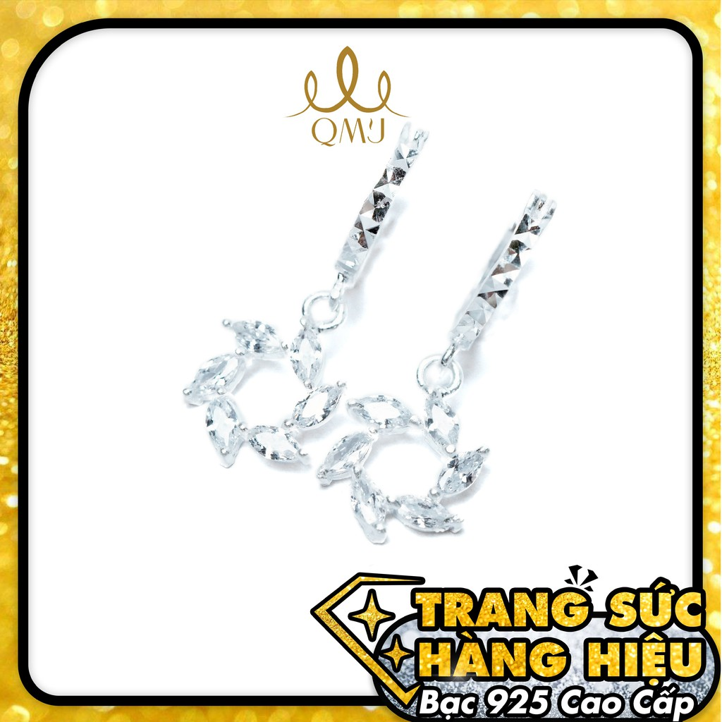 QMJ Bông tai Chong chóng nạm đá phale lấp lánh 925 cao cấp - Q286