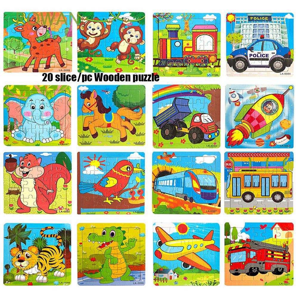 20 slice/pc Christmas Gift Children Baby Educational Kids Toy Hot Sale Intelligence 3D Jigsaws