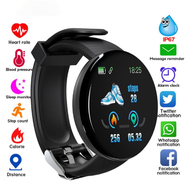 Đồng hồ Bluetooth thông minh thể thao D18 đa năng chống thấm nước cho Android IOS