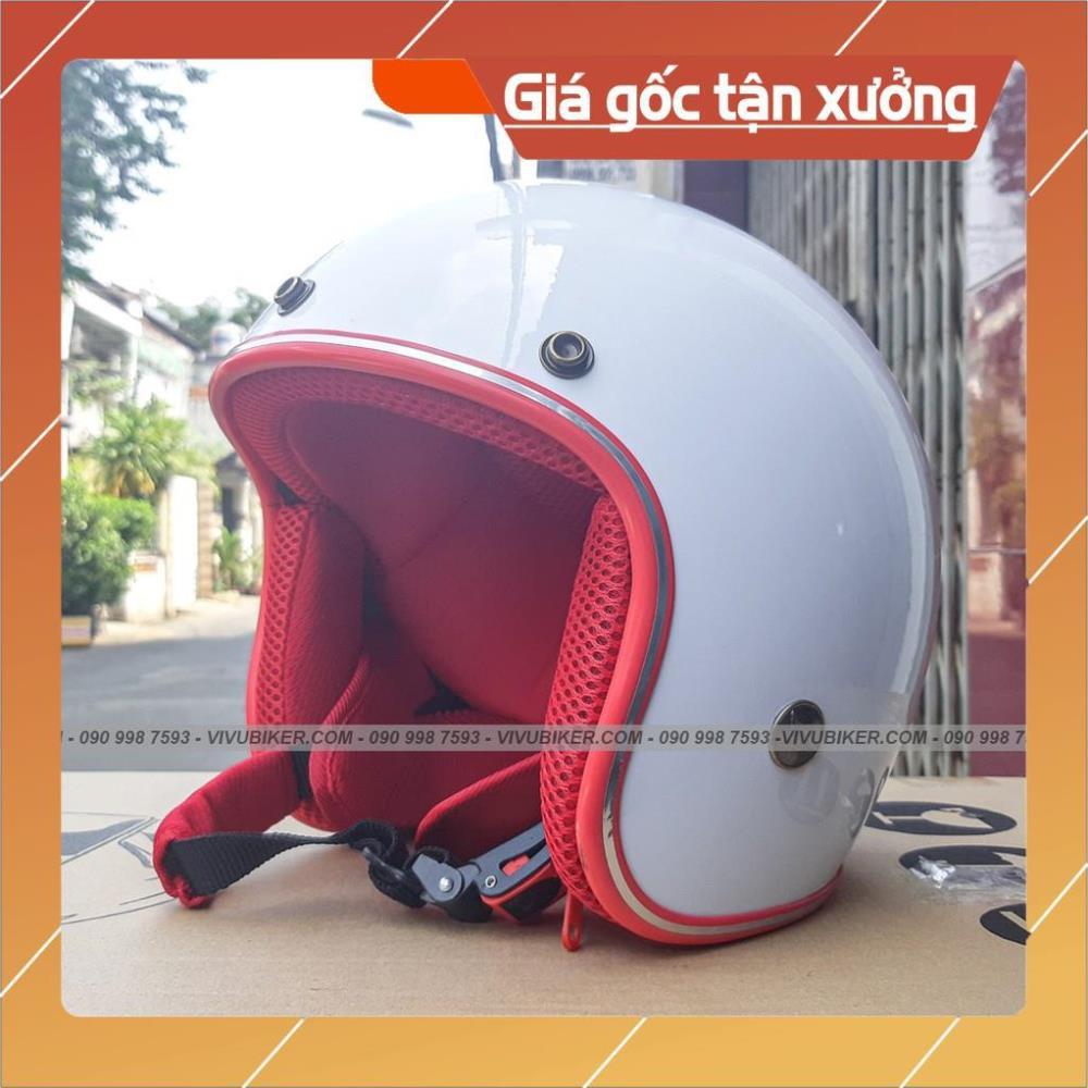 [Giống ảnh] Tai thỏ FungFing gắn nón bảo hiểm 3/4 trắng lót đỏ siêu dễ thương - Mũ bảo hiểm kèm tai mèo chính hãng