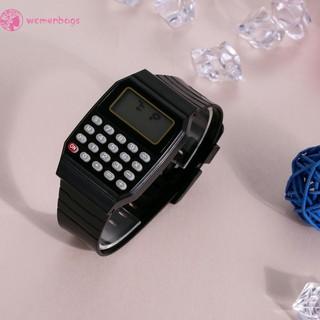Đồng hồ mini đa năng kết hợp máy tính và dây silicon cho bé