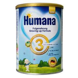 Sữa công thức Humana Gold số 3 - 350g Đức nhập khẩu ( Cam Kết 100% Hàng Chính Hãng)