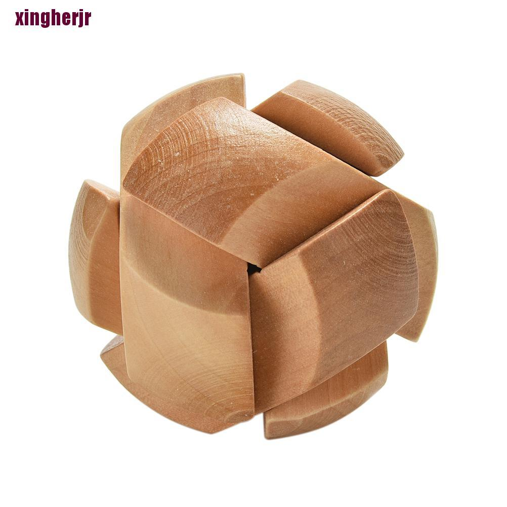 Xjvn Wooden Football Lock Educational Puzzle Brain Teaser Removing Assembling Kid Toy Fad