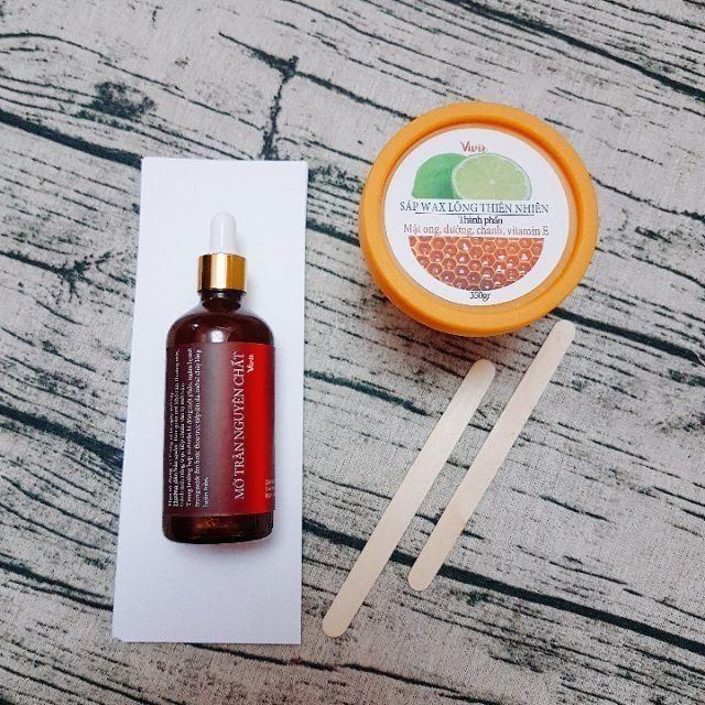 [Mã COS1809 hoàn 10% xu đơn 300K] Combo triệt lông Wax + Mỡ trăn HANDMADE Vivir (tặng kèm bộ dụng cụ wax)
