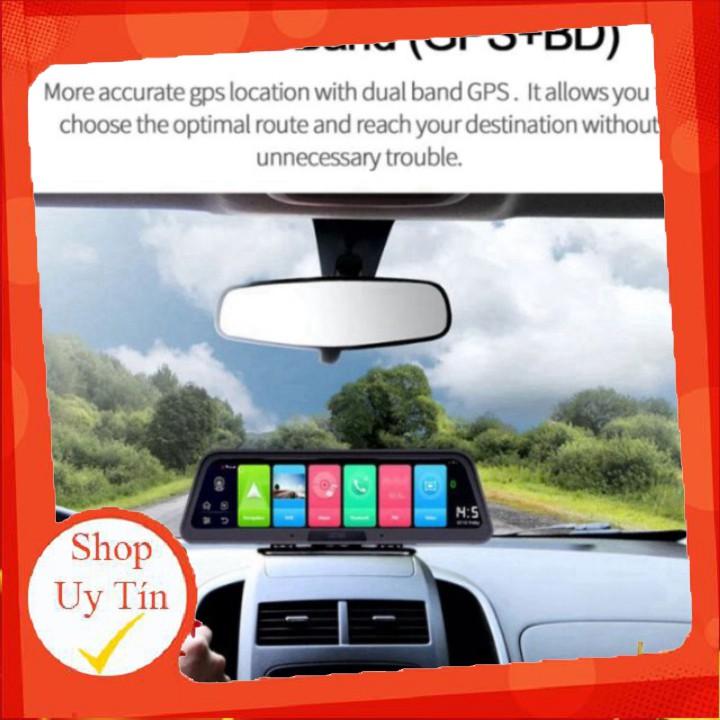 Camera hành trình đặt taplo ô tô cao cấp Phisung Q98, 4G, Wifi, GPS ,10 inch.C