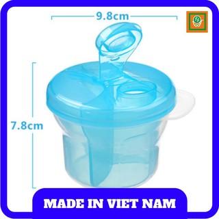 Hộp chia sữa, thức ăn dặm xoay tròn 3 ngăn cho bé trai bé gái hàng Thái Lan (eco)