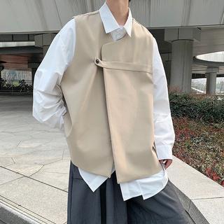 Áo Khoác Vest Dáng Rộng Phong Cách Đường Phố Cá Tính Cho Nam