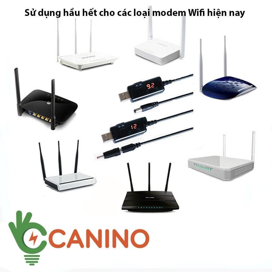 Cáp Đổi Nguồn Wifi FREESHIP Cáp Chuyển Đổi Điện Áp Từ Cổng USB 5V Sang 9V Hoặc 12V Màn Hình LED