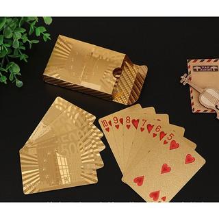 [HOT] Bộ bài tây mạ vàng 52 lá cao cấp – sang trọng- chống nước