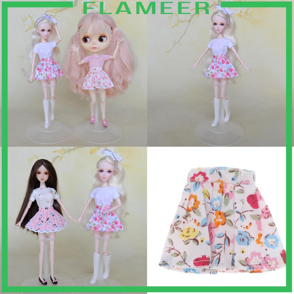 [FLAMEER] Lovely 1/6 Girl Doll Mini Short Skirt Casual Matching Girls Gifts Accs
