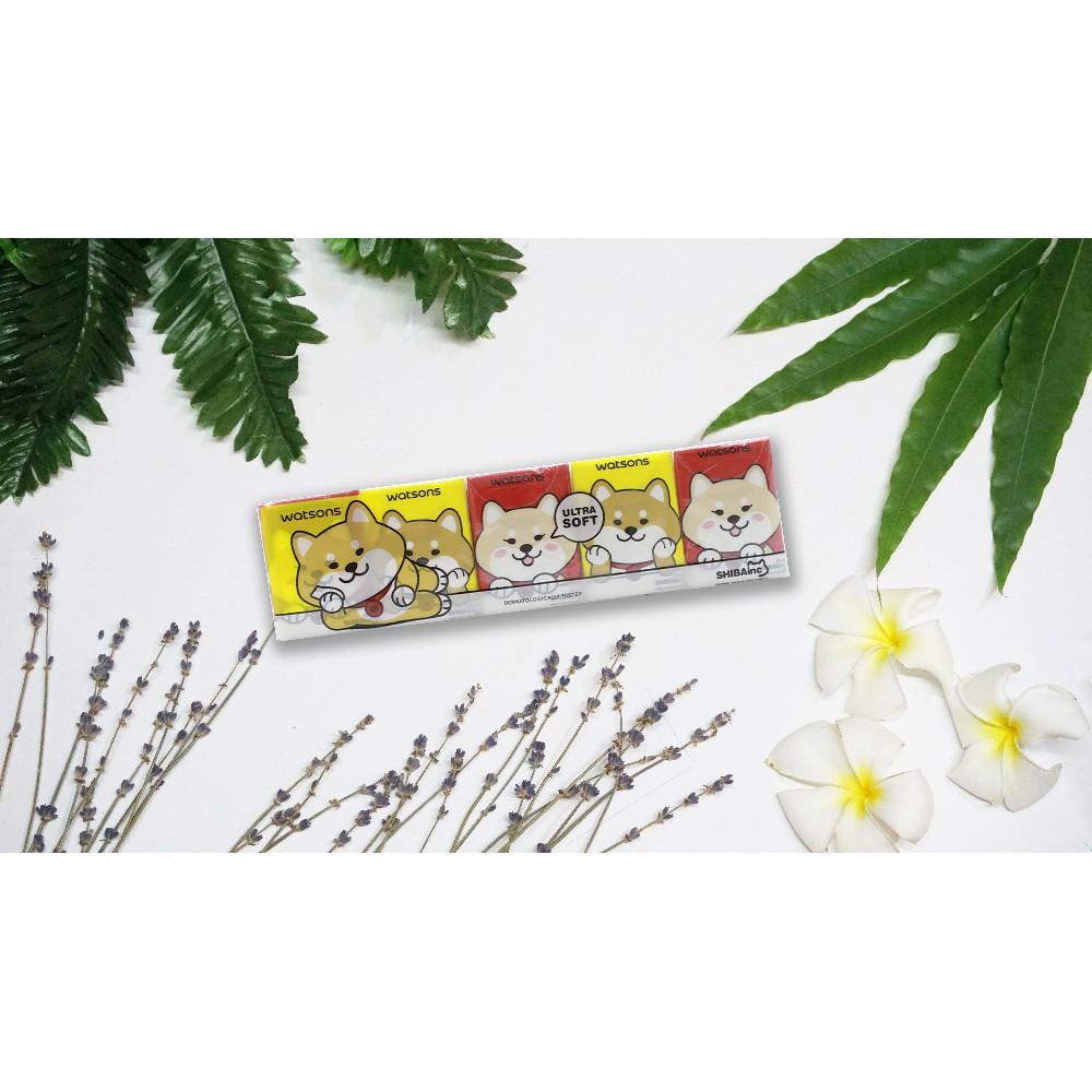 Lốc Khăn Giấy Bỏ Túi Watsons Velvety Soft Mini Hankies Shibainc Mềm 10 Gói Nhỏ