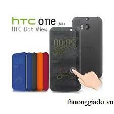 BAO DA HTC One M8 DOT VIEW, HTC HC M100 CHÍNH HÃNG