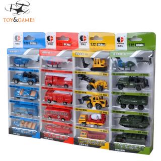 5PCS Mini Simulation Alloy Construction Vehicles Model Toy Children Intellectual Engineering Car