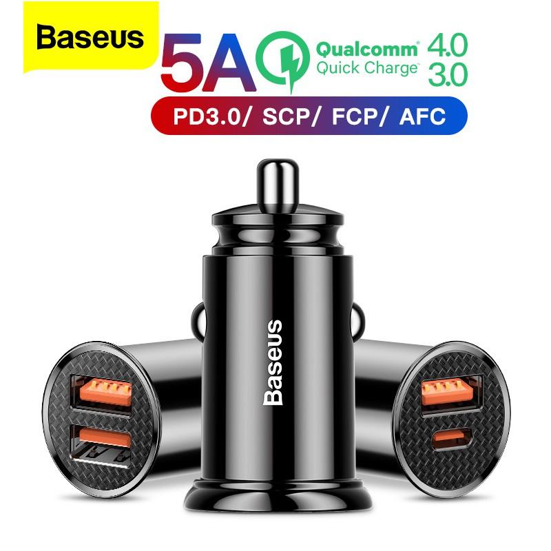 Tẩu Sạc Nhanh Baseus Qc 3.0 4.0 Cổng Usb Type C Dùng Trên Xe Hơi